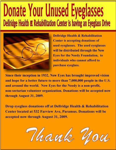 Eyeglass Donation